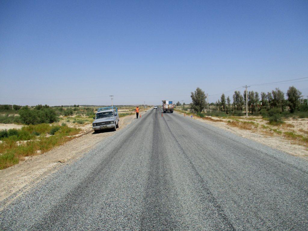 روکش آسفالت سطحی شهرستان جیرفت